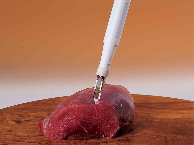 φορητός μετρητής pH / θερμοκρασίας  ειδικά σχεδιασμένος για τη βιομηχανία επεξεργασίας κρέατος