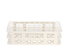 Test tube rack holes 25 mm white